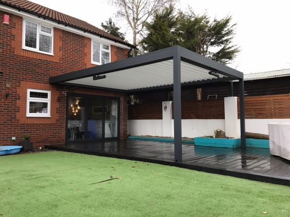 Outdoor Living Pod, Louvered Roof, Garden, BBQ