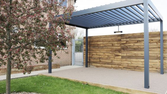 Outdoor Living Pod, Artificial Decking, Grass, Tree, Pod, Fake Decking, Artificial Grass