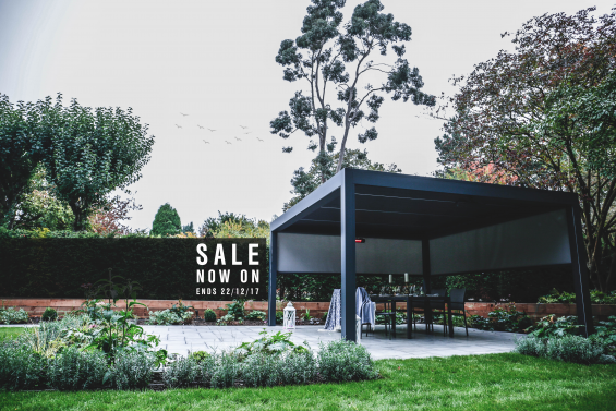 Sale, Outdoor Living Pod, Louvered Roof, Pergola, Outdoor Living, Caribbean Blinds, Autumn