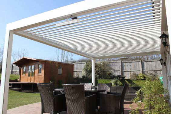 Aluminum Louvered Roof, Aluminum Pergola, Outdoor Living Pod, Caribbean Blinds, Louvered Roof, Outdoor Living