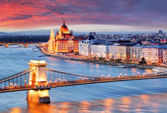 Budapest, Hungary, Parliament, Bridge