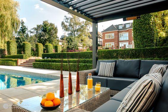 Outdoor Living Pod, Louvered Roof, Canopy, Pergola, Classic, Garden Room, Louvered Canopy, Louvered Pergola, Aluminium Pergola, Gazebo