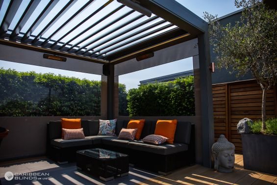 Outdoor Living Pod, Louvered Roof, Canopy, Pergola, Roof Terrace, London, Battersea
