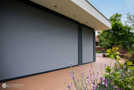 External Roller Blind, Blinds, Antiguan, Glazing, Windows, Doors, Window Blinds, Outdoor Roller Blinds, Window Awnings, Blinds, Shade, WindowBlinds, Windows, Bifolds, Sliding Doors, Building Design, Curtains, Window decoration