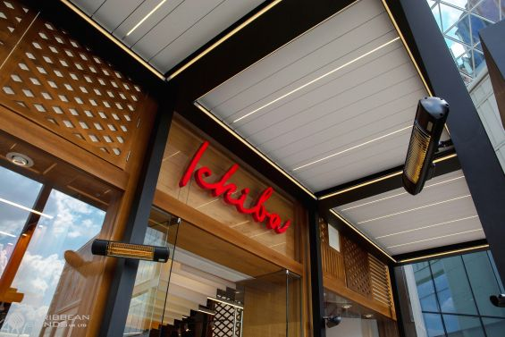Ichiba, Westfield, Shopping Centre, Japanese Food, Restaurant, Outdoor Living Pod, Louvered Roof, Canopy, Pergola, Classic, Garden Room, Louvered Canopy, Louvered Pergola, Aluminium Pergola, Gazebo, Alfresco