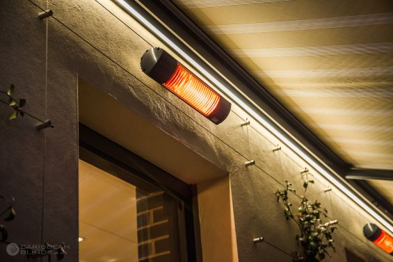 Awning, Sun Awning, Patio Awning, Garden Awning, Heater, Infrared Heater, LED Lights