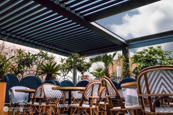 Outdoor Living Pod, Restaurant, Caribbean Blinds, Louvered Roof, Pergola, Canopy