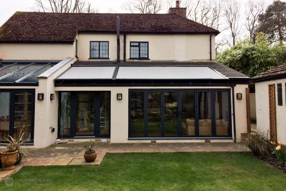 Caribbean Blinds, Roof Blinds, Cayman Roof Blinds, Blinds, Solar Shading, External Blinds, Skylight, Conservatory, Glass Extension