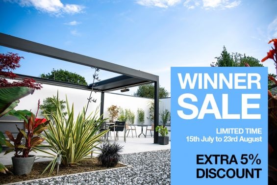 Winner Sale, Sale, Outdoor Living, External Shading, Caribbean Blinds