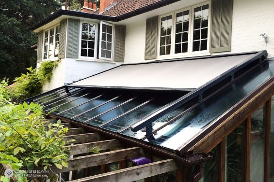 Cayman Roof Blinds, Roof Blind, Glass Room Extension, Conservatory, Skylight, Skylight Blinds, Roof Light Blinds, Veranda
