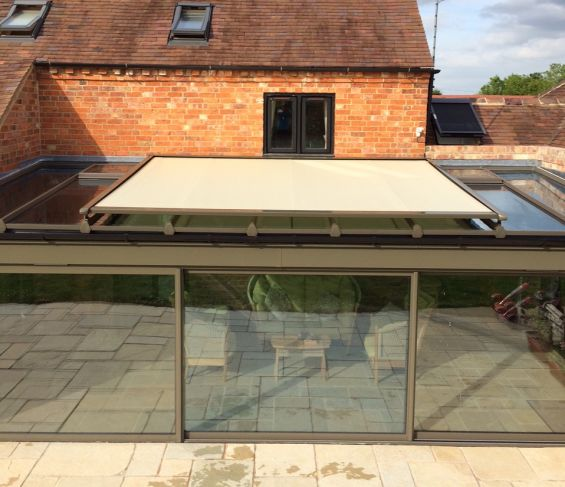 External Roof Blind Conservatory