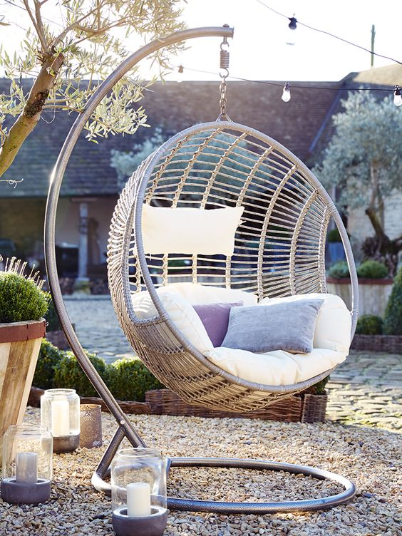 Garden, Garden Furniture, Blog, Outdoor Furniture, Hanging Chair, Modern