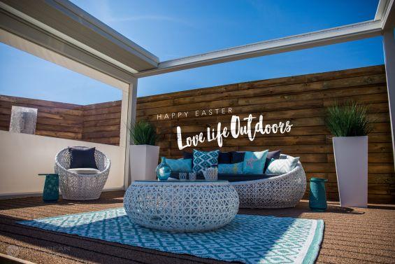 Outdoor Living Pod, Louvered Roof, Pergola, Caribbean Blinds, Garden Room, Canopy, Easter