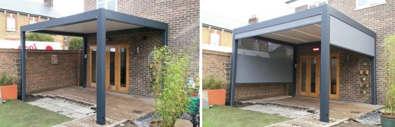 Louvered Roof - Outdoor Living Pod