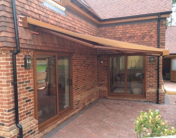 Patio Awning to Tiled House