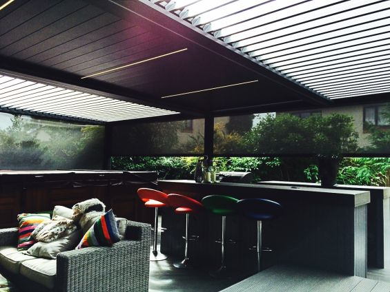 Caribbean Blinds, Outdoor Living Pod, Louvered Roof, Pergola, Canopy, Outdoor Living