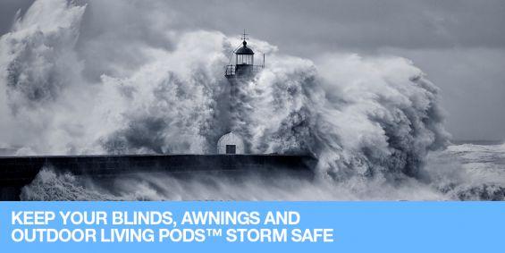Storm, Warning, Weather Warning, Blinds, Awnings, Pergolas