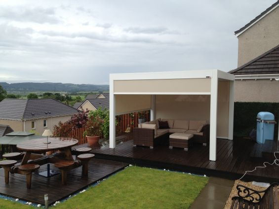 Outdoor Living Pod, Louvered Roof, Pergola, Caribbean Blinds