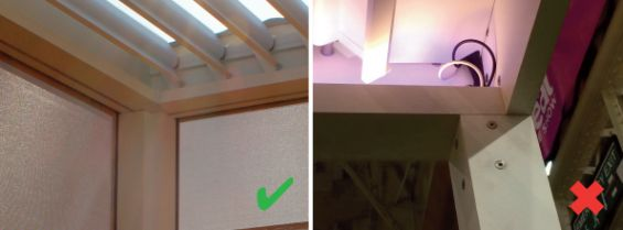 Louvered Roof Comparison - Wiring