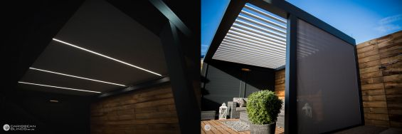Outdoor Living Pod, Louvered Roof, Canopy, Pergola