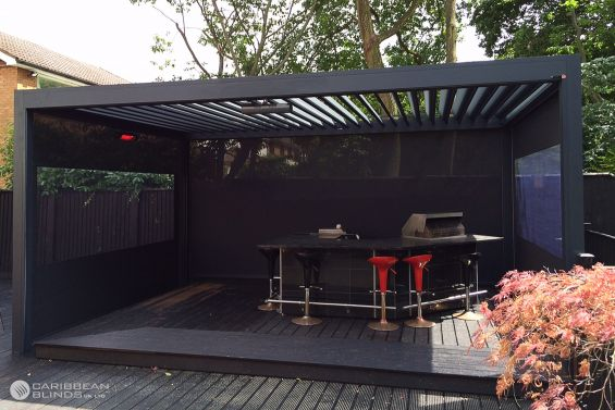 Outdoor Living Pod, Louvered Roof, Pergola, Canopy, Outdoor Kitchen