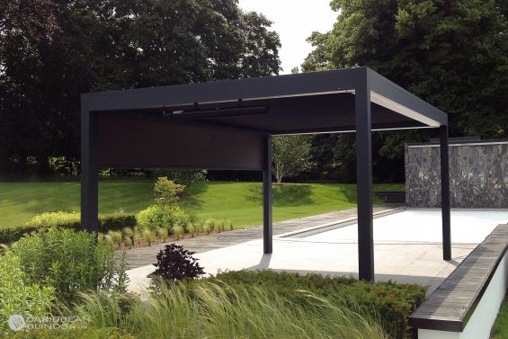Outdoor Living Pod, Louvered Roof, Canopy, Pergola, Swimming Pool, Pool Side, Pool