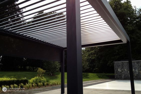 Outdoor Living Pod, Louvered Roof, Canopy, Pergola, Swimming Pool, Pool