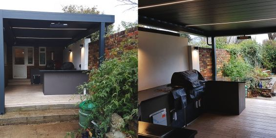 Outdoor Living Pod, Louvered Roof, Kitchen, Pergola, Outdoor Living