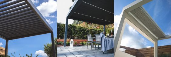 Outdoor Living Pod, Caribbean Blinds, Louvered Roof, Pergola