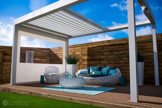 Outdoor Living Pod, Louvered Roof, Pergola, Canopy, Garden Room, Outdoor Living, Garden Design, Landscape Gardening