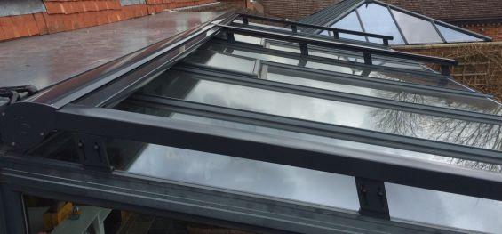 External Roof Blinds Retracted