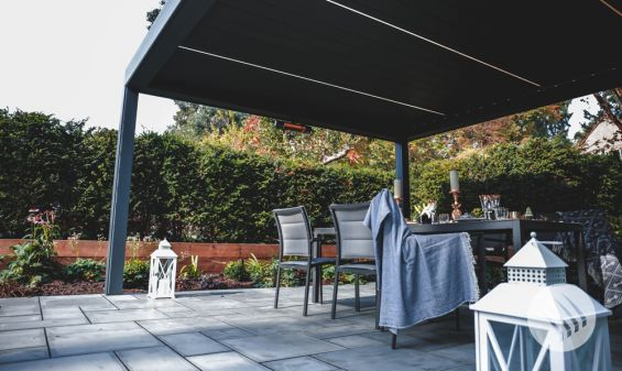 Outdoor Living Pod, Louvered Roof