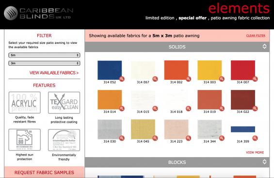Awning Fabrics Elements