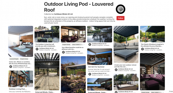 Pintrest, Outdoor Living Pod, Louvered Roof, Pergola, Canopy