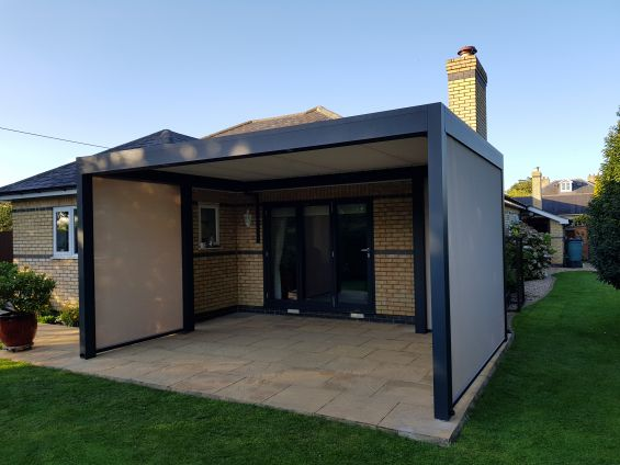 Outdoor Living Pod, Louvered Roof, Pergola
