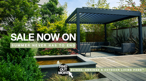Sale, Autumn Sale, Outdoor Living Pods, Awnings, External Blinds, Outdoor Living, Patio Awnings, Canopy