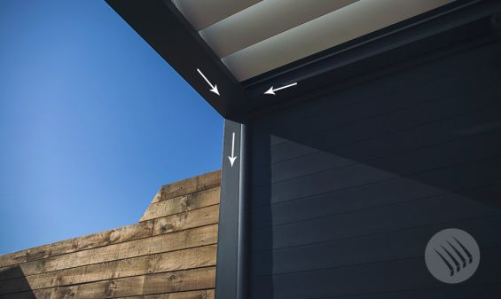 Deluxe, Outdoor Living Pod, Pergola, Louvered Roof, Outdoor Living