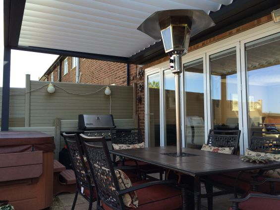 Louvered Roof Outdoor Living Pod