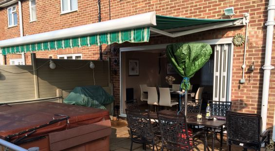 Patio Awning before Louvered Roof Install