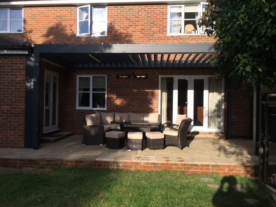 Louvered Roof Pergola Canopy Outdoor Living Pod