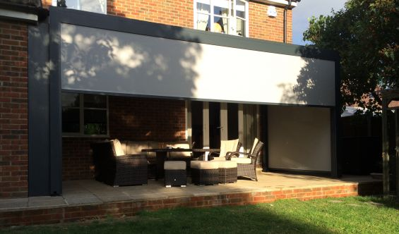 Outdoor Living Pod louvered roof pergola canopy