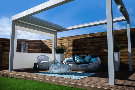 Outdoor Living Pod, Louvered Rood, Pergola, Prestige