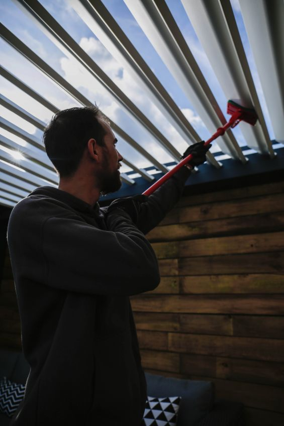 Outdoor Living Pod, Louvered Roof, Cleaning, Maintenance