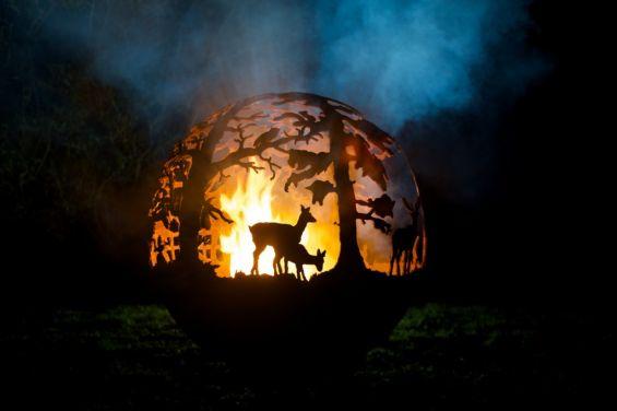 Fire Pit, Christmas Decoration