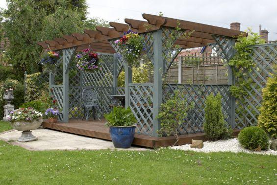 Wooden Pergola, Pergola, Garden Design, Landscape Gardening