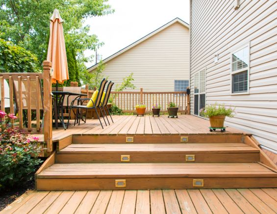 Decking, Wood, Patio, Garden