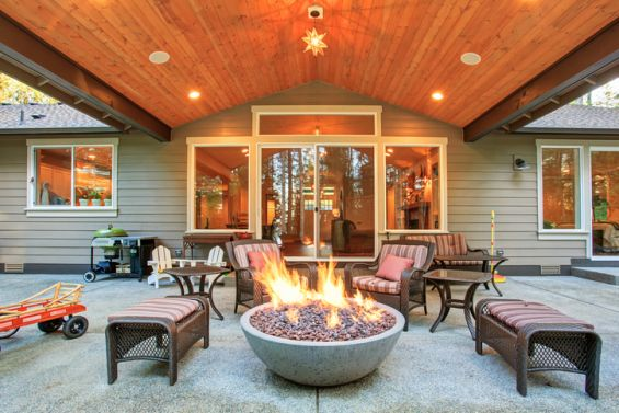 Fire, Pit, Patio, Garden, Outdoors