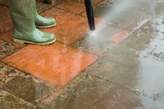 Patio, Algae, Pressure Wash, Boots