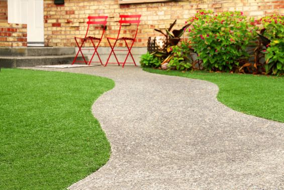 Artificial Grass, Grass, Green, Garden, Chair