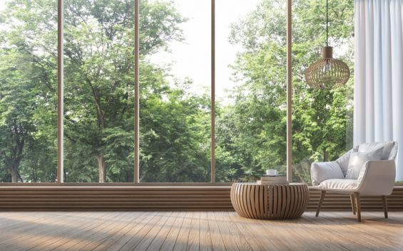 Large Windows, Glass, Windows, Trees, Blinds, External Blinds, Caribbean Blinds